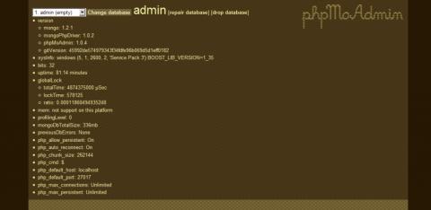 zero day phpMoAdmin MongoDB
