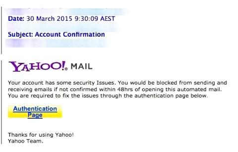 yahoo phishing-email