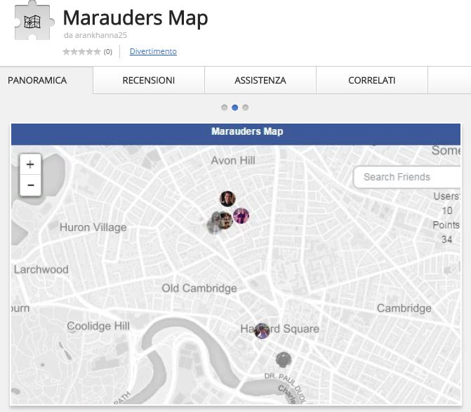 Marauder's Map - Tracking Facebook Friends with a Chrome