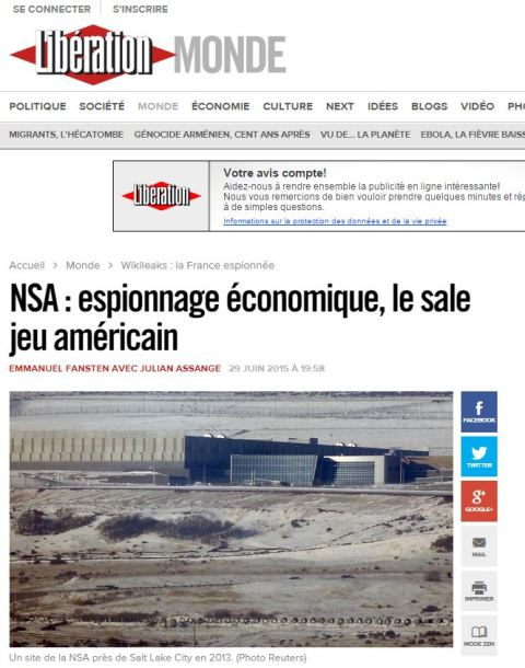 NSA spied France Liberation