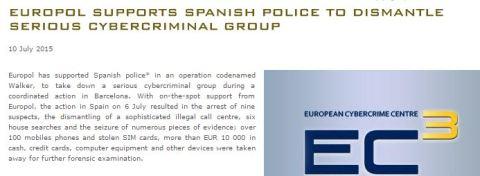 Europol and Spanish police
