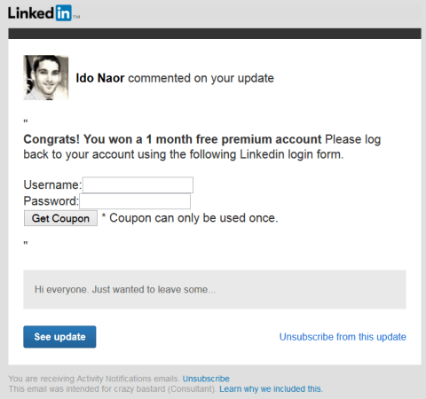 LinkedIn Spear phishing 6