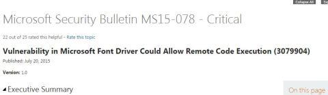 Microsoft bulletin