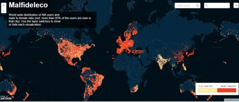 Ashley Madison users Maps