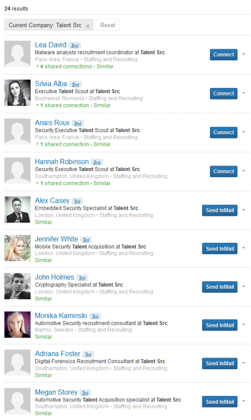 talent-src LinkedIn fake recruiters 2