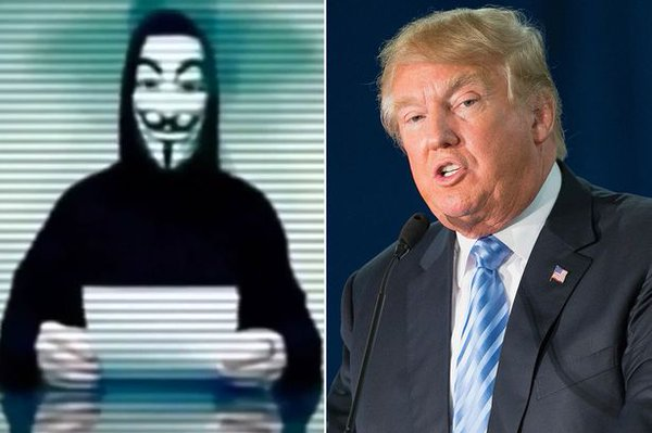 Anonymous hack Trump