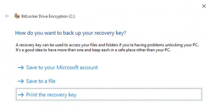 recovery key windows encryption 2