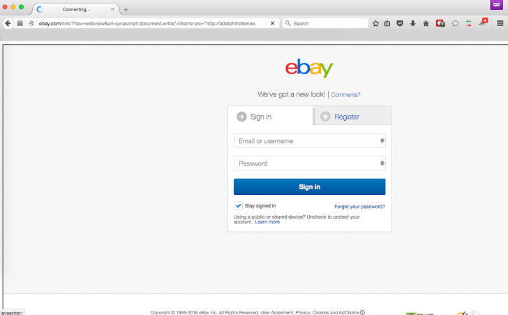A XSS may have exposed eBay website used to phishing