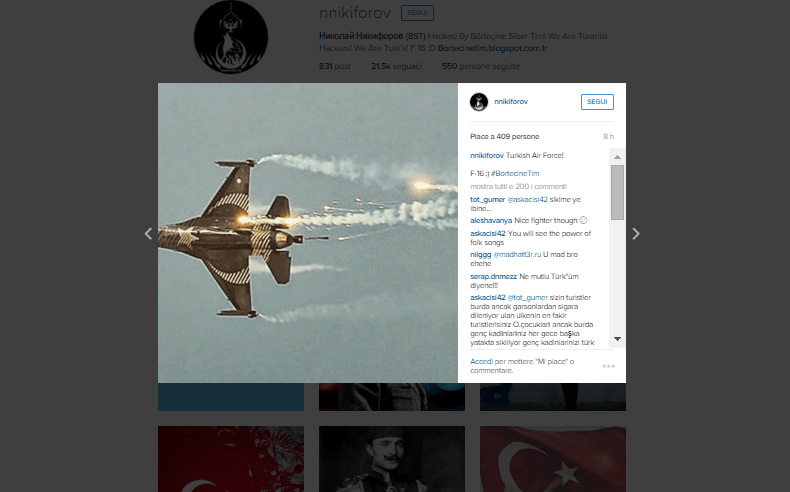 Turkish hackers instagram Russian account hacked 2
