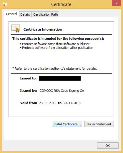 DropboxCache backdoor certificate
