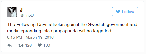Swedish newspaper website hacked