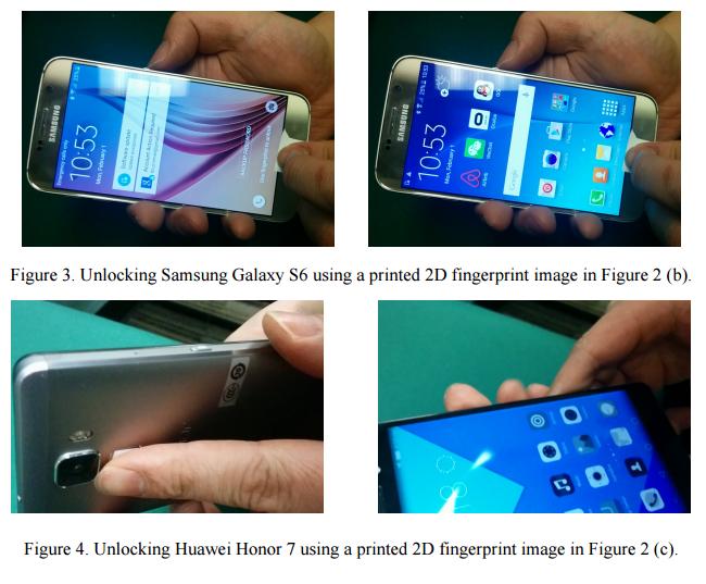 spoofing fingerprint sensor