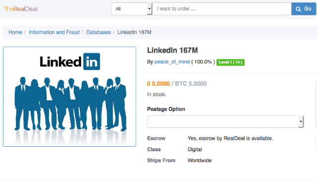 LinkedIn credentials and Stolen Data