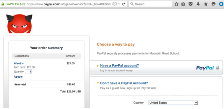 PayPal flaw deliver malicious image