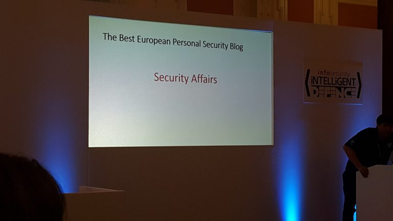 Security Affairs Best Personal European Security Blog 2016