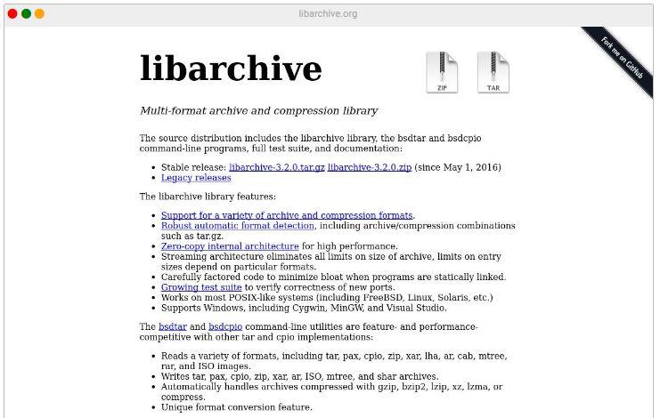 libarchive
