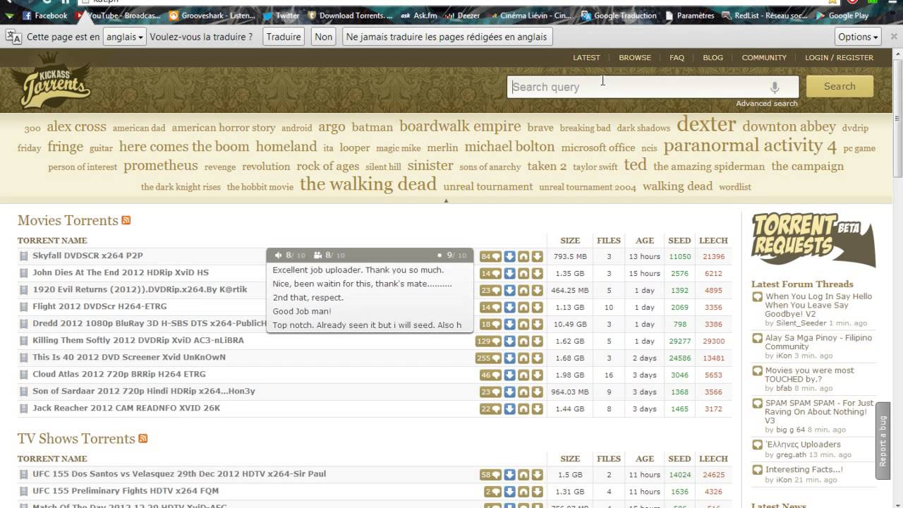 torrent web search