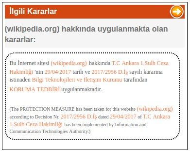turkey banned wikipedia
