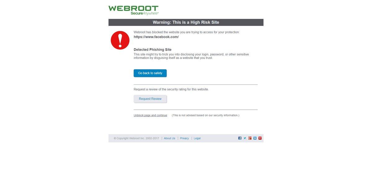 webroot problems