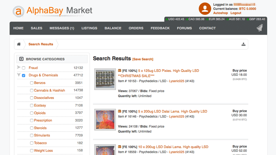 What's new after the AlphaBay Market Shutdown in the darkweb?