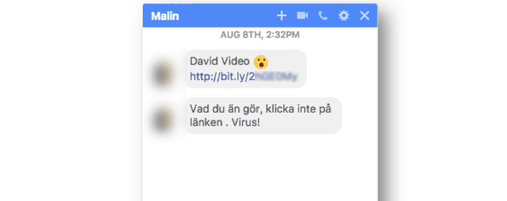 Facebook Messenger malware