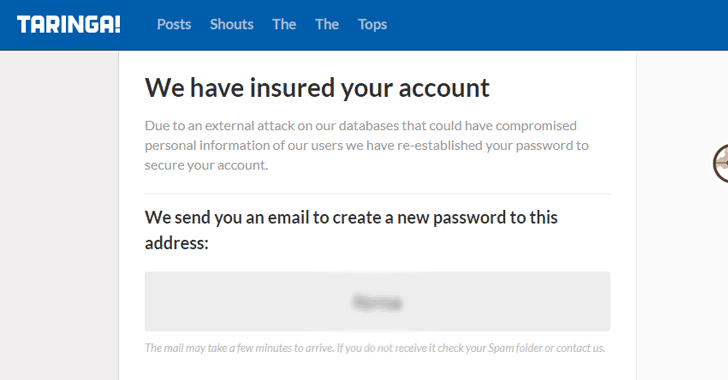 Taringa Data Breach hacking