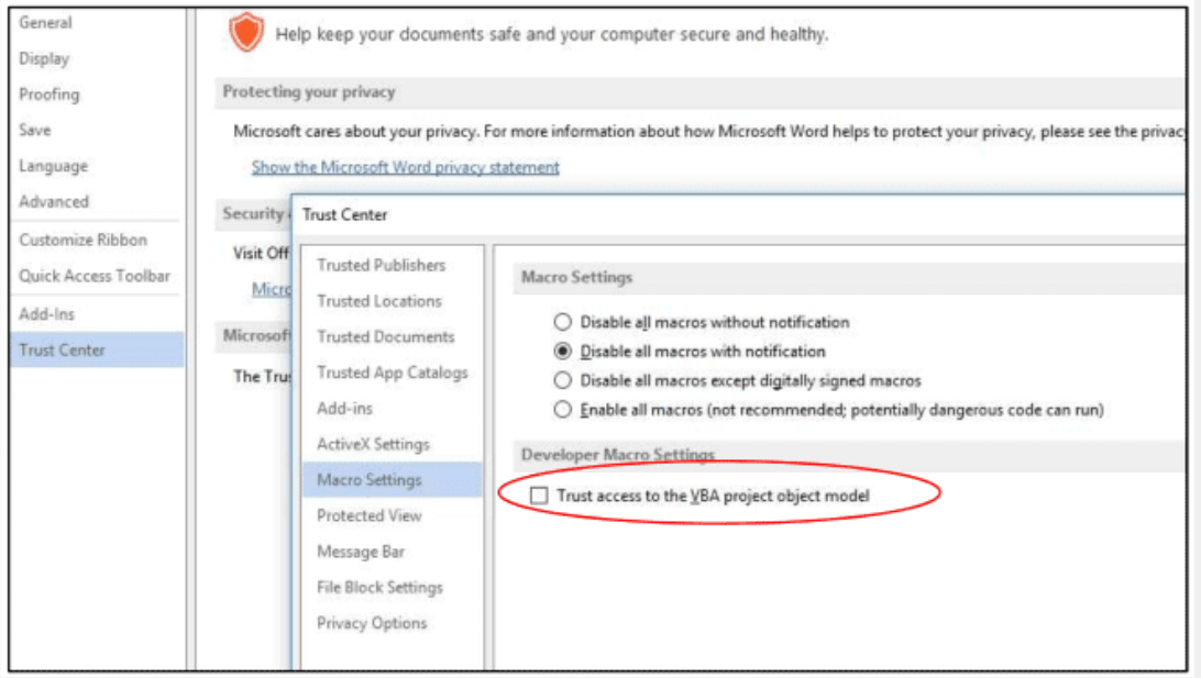 Self-Replicating Malware exploits MS Office Built-In feature