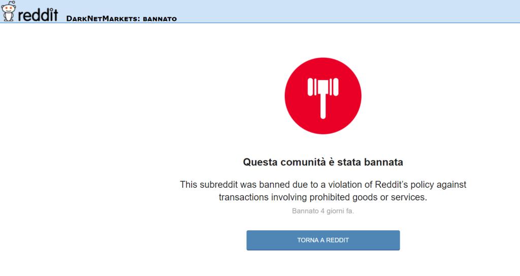 Reddit darknet markets ban