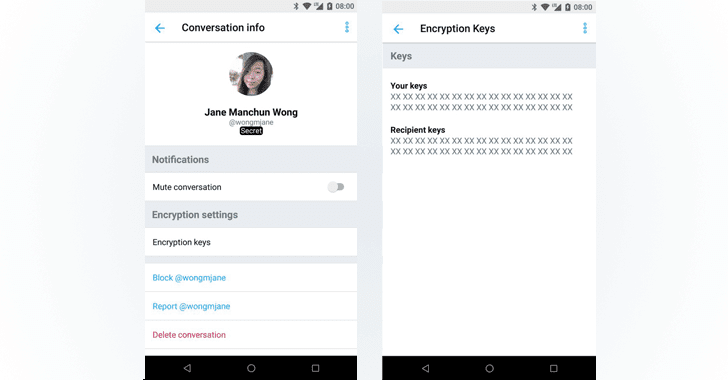 Secret Conversation Twitter