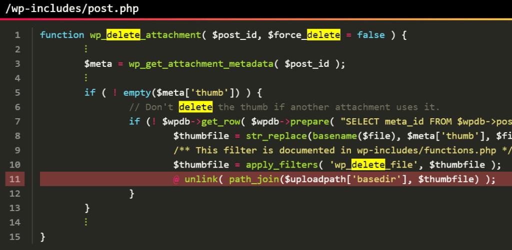file deletion vulnerability WordPress