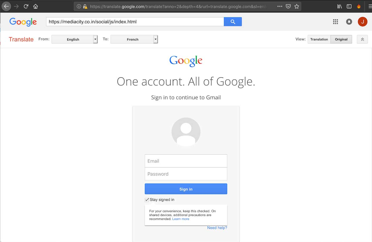 Phishing-email-google-translate-2