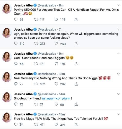 jessica alba hacked twitter