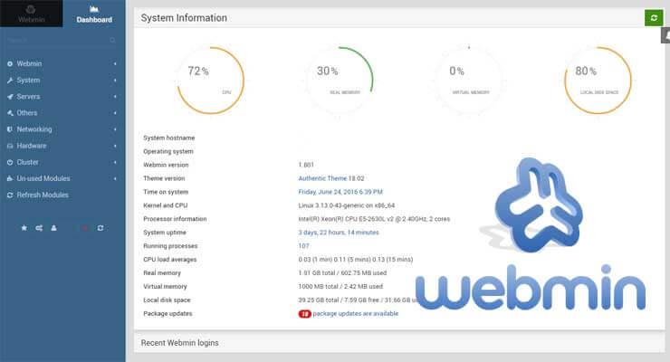 Install Webmin 2