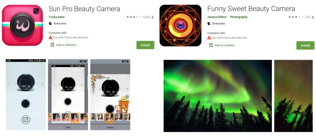 adware SunPro Funny Sweet apps