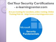 Top Information Security Certifications - e-learningcenter