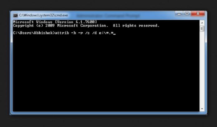 Cách diệt virus Shortcut trong máy tính hoặc USB bằng CMD