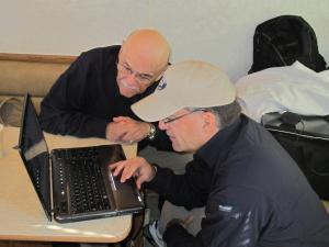 2 Joe Tony looking at data