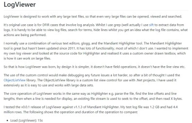 Open Source | 輕巧型日誌分析工具logviewer - SecurityINFO tw