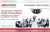 Register now for Hikvision HCSA Training Storm