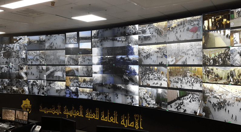 eyevis Video Wall plays key role in protecting Holy Shrine