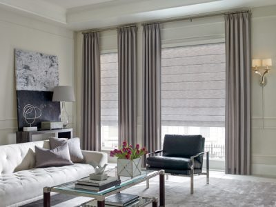 Transitions drapes window treatment in partnership with Security Plus