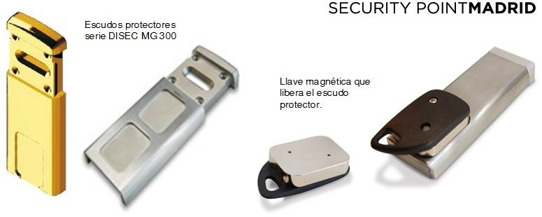 Escudo protector de puertas para llave de borjas