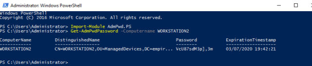 View LAPS Password with Powershell