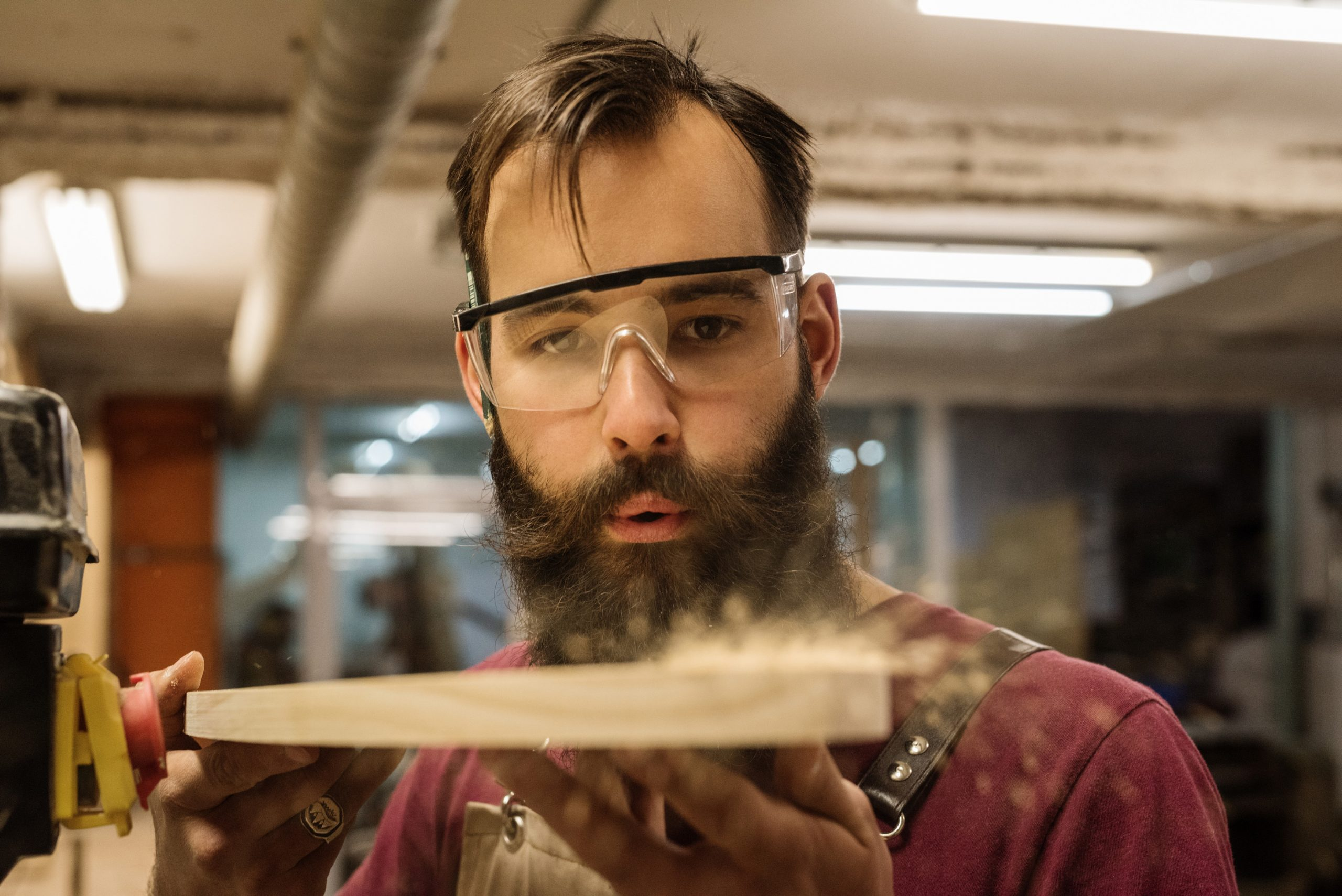 Person doing woodworking