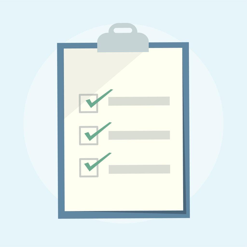 Illustration of a checklist clipboard