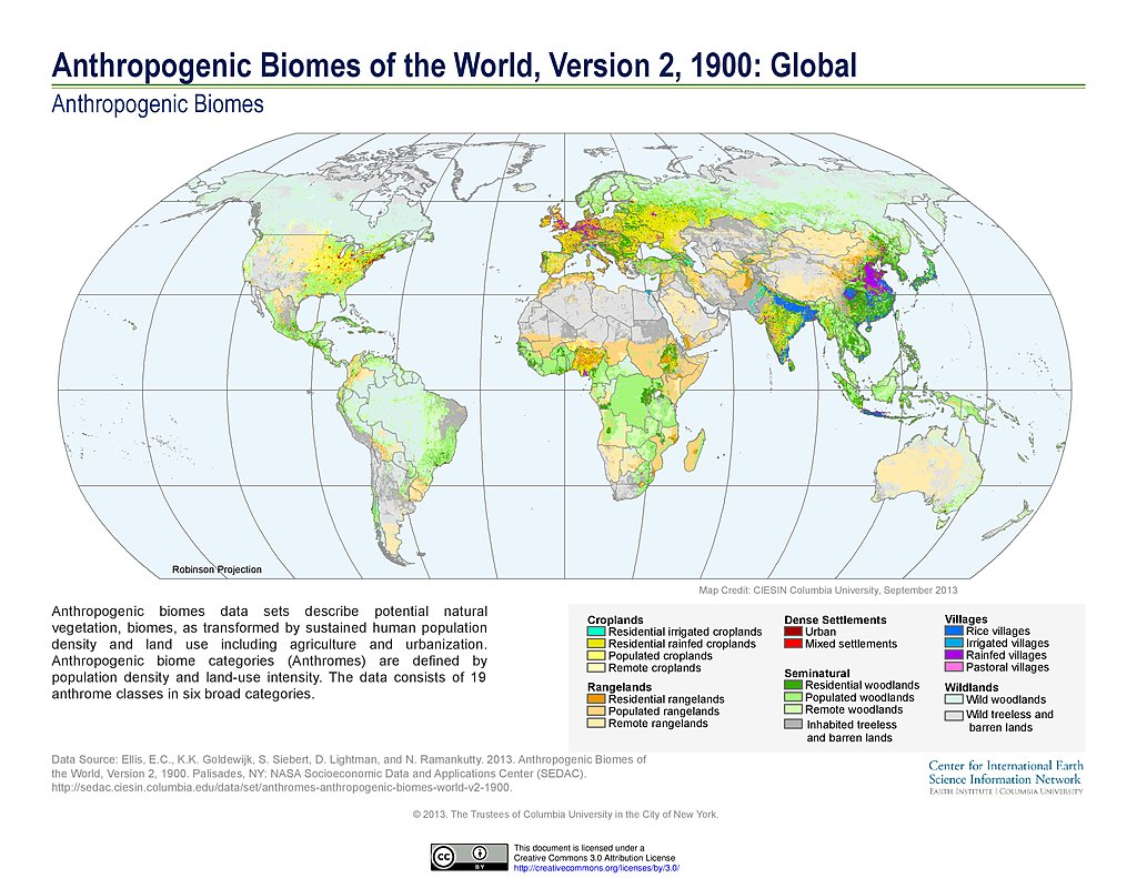Maps Anthropogenic Biomes